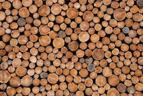 Hintergrund aus Holzscheiben