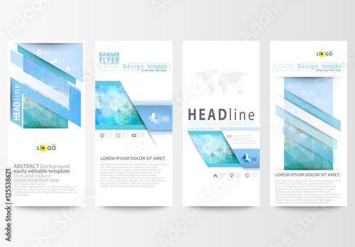 Vertical Flyer Layout With Cool Tone Geometric Design Element 1 Buy