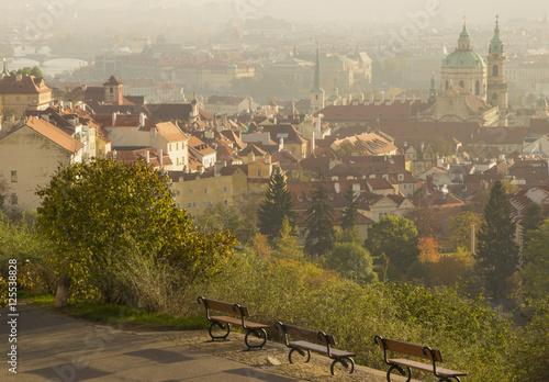 Autumn landscape, Prague, Czech Republic Poster