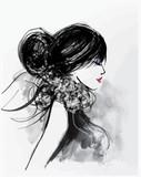 Moda kobieta model z szalikiem - 125546096