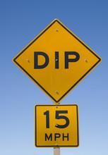 Dip Road Sign