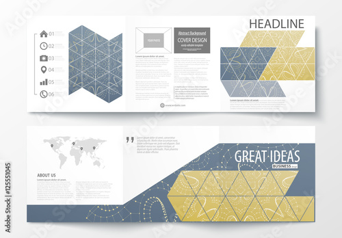 trifold brochure layout with constellation design element 2 buy
