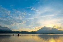 Natural Scene At Mekong River, Nong Khai, Thailand.