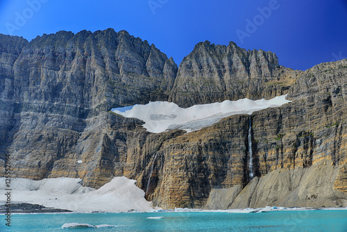 Poster Glaciers Grinnell Glacier clear blue sky, Glacier National Park, Montana