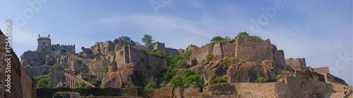 Canvas Print Massive citadel ruins of the  Golconda Fort