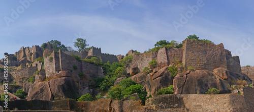 Photo  Massive citadel ruins of the  Golconda Fort