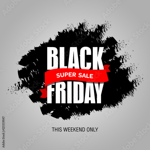 Poster Positive Typography Black Friday sale best design template. Black Friday banner, poster, badge, sticker, web advertising vector illustration.