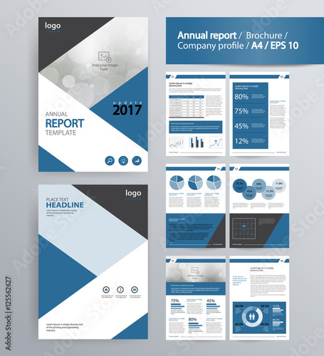 Fotografía page layout for company profile, annual report, brochure, and flyer layout template