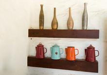 Vintage Vase And Pot Design On...