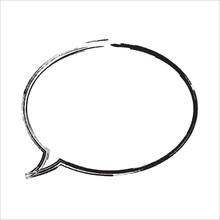 Bubble Talk Graphic Illustration Background | Sign Symbol Communication Isolated Black And White