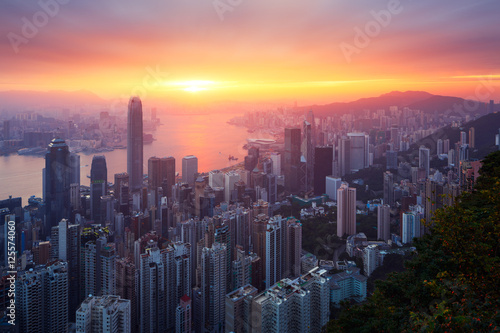 Hong-Kong sunrise Poster
