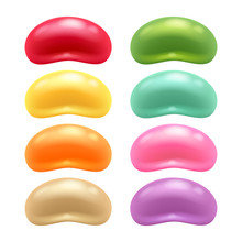 Round Colorful Jelly Beans Set.