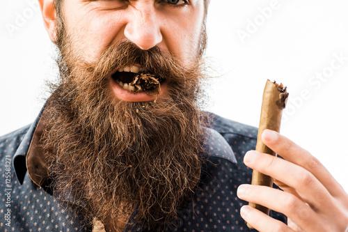 Fotografia, Obraz tough rich man with cigar