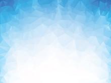 Blue Glass Geometric Mosaic Background