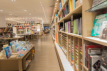 Abstract Blurred Photo Of Book Store