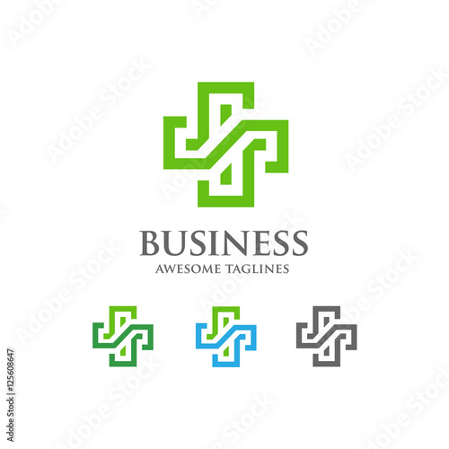 Abstract Health Cross Medical Logo Religious Sign Ambulance Label First Aid Symbol