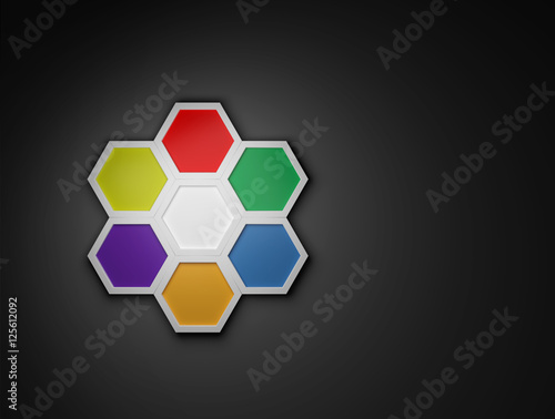3d octagon template layout for business buy this stock photo and