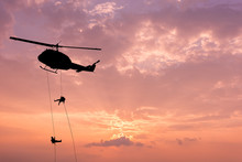 Silhouette Of Helicopter, Sold...
