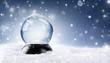 Leinwanddruck Bild - Snow Globe - Christmas Magic Ball