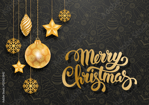 Festive Christmas Greeting Card Wallpaper Mural