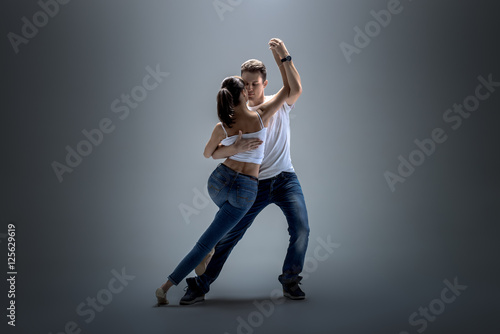 Poster Dance School couple dancing social danse