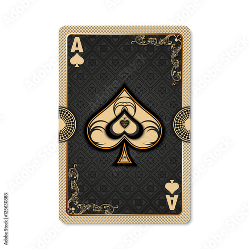 Ace Of Spades Playing Card Vintage Style Casino And Poker