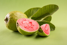 Guava Fruit Or Amrood Or Amrud Or Peru Isolated, Selective Focus