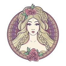 Art Nouveau Woman.