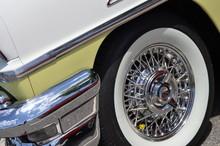 Whitewall Tire With Spoke Rim