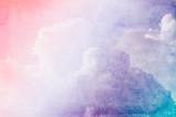 Vintage chmury z tła akwarela - 125662684