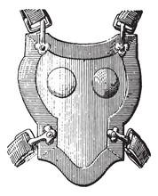 Breastplate Armor, Vintage Engraving.