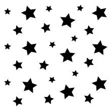 Black Little Star Pattern Back...