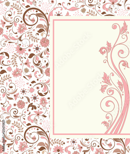 Vintage Invitation Card With Ornate Elegant Retro Abstract