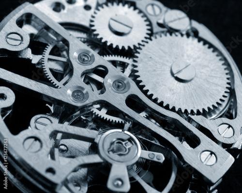 Recess Fitting Macro photography vintage watch machinery macro detail monochrome