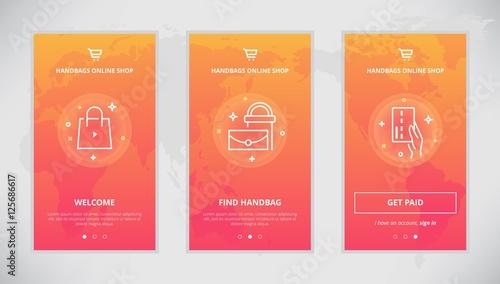 8d0b76a379 Handbags online shop app design - Buy this stock vector and explore ...