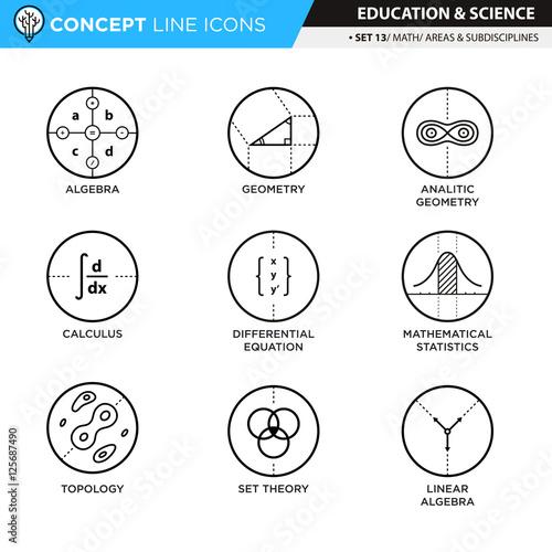 Tela Concept Line Icons Set 13 Math