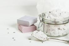 Handmade Lavender Scrub With C...