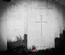 Gravestone Of An Unknown Soldier From World War 1, Tyn Cot Cemetery, Belgium
