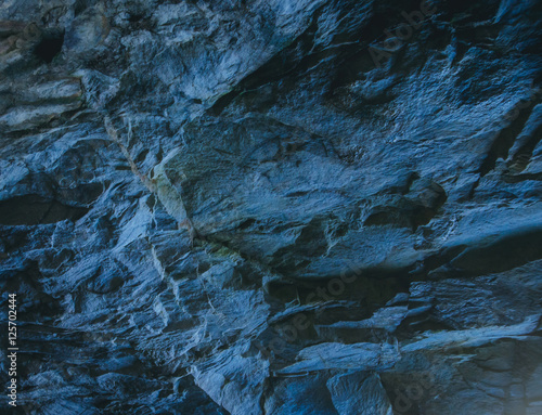 Photo sur Toile Les Textures blue stone texture background