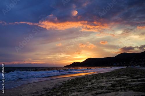 Evening Beach Wallpaper Mural