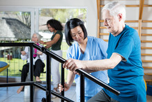 Senior Citizens Working Out At...