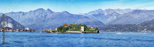 Fotografie, Obraz  Panoramic view of Lake Maggiore with Island of Isola Bella near Stresa, Piedmont, Italy