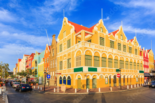 Photo Stands Caribbean Willemstad. Curacao, Netherlands Antilles