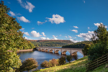 Ashopton Viaduct Above Ladybower Reservoir, Which Are Located In The Upper Derwent Valley, At The Heart Of The Peak District National Park