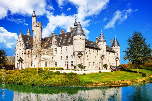 Foto op Plexiglas Antwerpen Beautiful romantic castles of Belgium -Marnix, Bornem