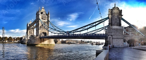 Foto op Canvas Londen london towerbridge pano