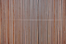 Wood Cladding Wall Which Various Tone Texture Of Wooden Stripes Use As Partition Or Seamless Fence In Vertical Line Which Use As Building Facade Decoration And Modern Household Or Contemporary Office.