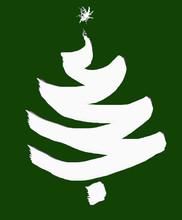 Albero Di Natale Bianco Su Sfondo Verde