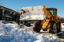 Snow Removal Vehicle Removing