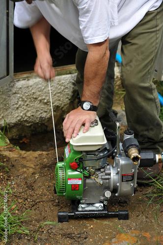 Water pump for irrigation, starter Canvas Print